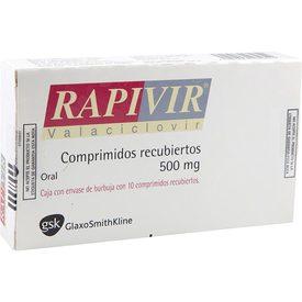 Rapivir 10 Comprimidos Caja