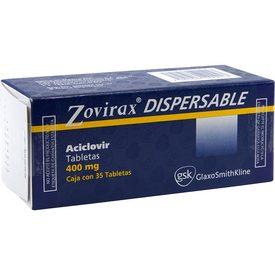 Zovirax Dispersable 35 Tabletas Caja