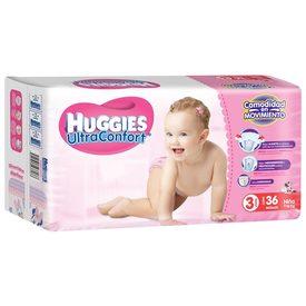 Huggies ultraconfort Pañales para niña Etapa 3