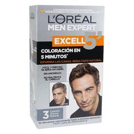 Excell 5 Tintes p/ cabello Hombre tono 3 castaño oscuro