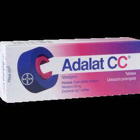 Adalat CC 30 Tabletas Caja