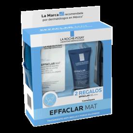 La Roche Posay effaclar Mat Tratamiento Anti-brillo y Poros Dilatados+Gel De 50Ml+Cosmetiquera